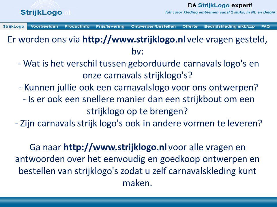 Vanzelfsprekend hebben wij op http://www.strijklogo.nl ook Instructiefilms voor het ontwerpen en strijken van carnavals strijklogo s.