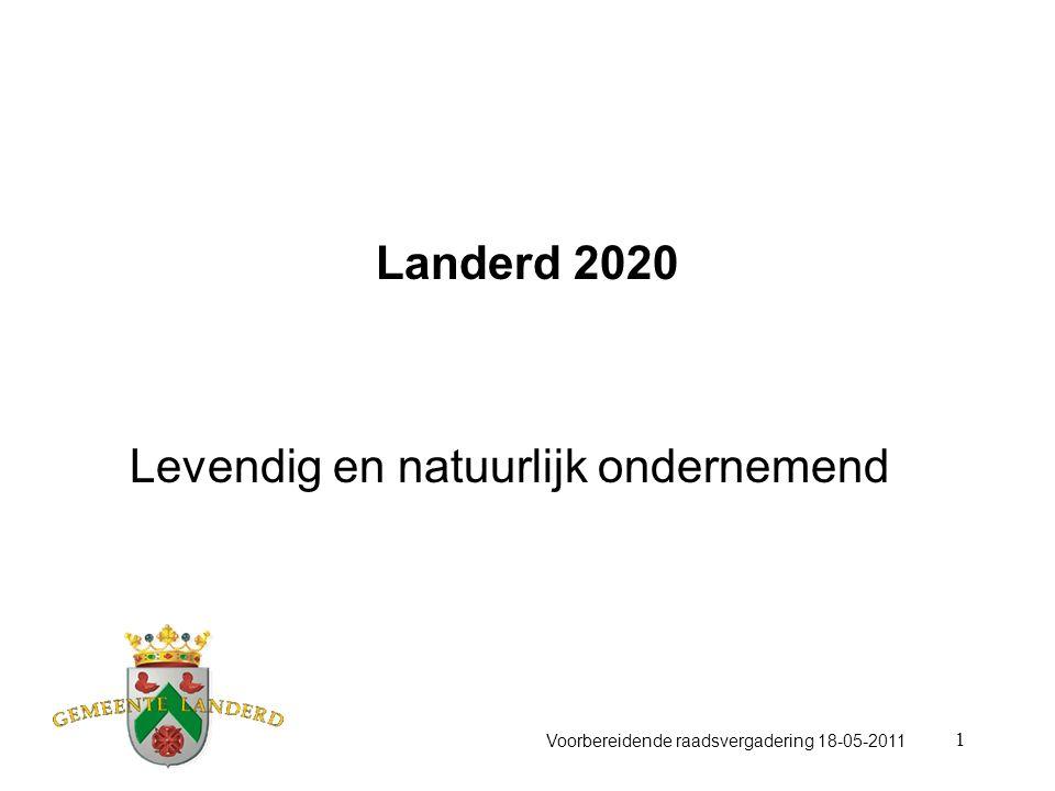 1 Landerd 2020 Levendig en natuurlijk ondernemend Voorbereidende raadsvergadering 18-05-2011