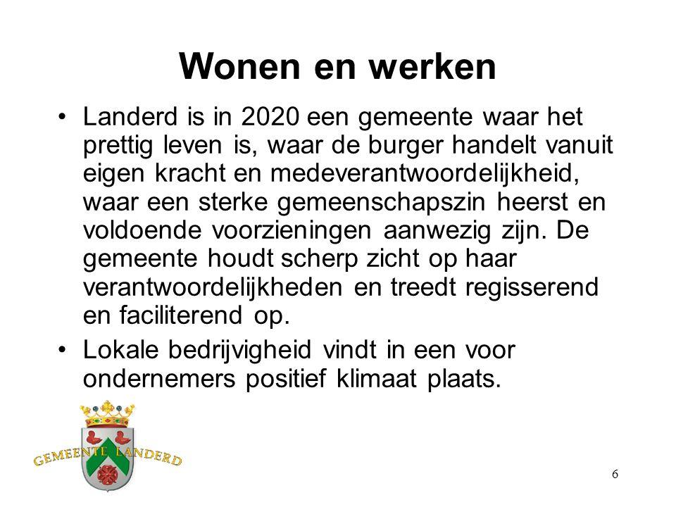 7 Ontgroening, vergrijzing en krimp Landerd ondervindt in 2020 de gevolgen van ontgroening, vergrijzing en krimp.