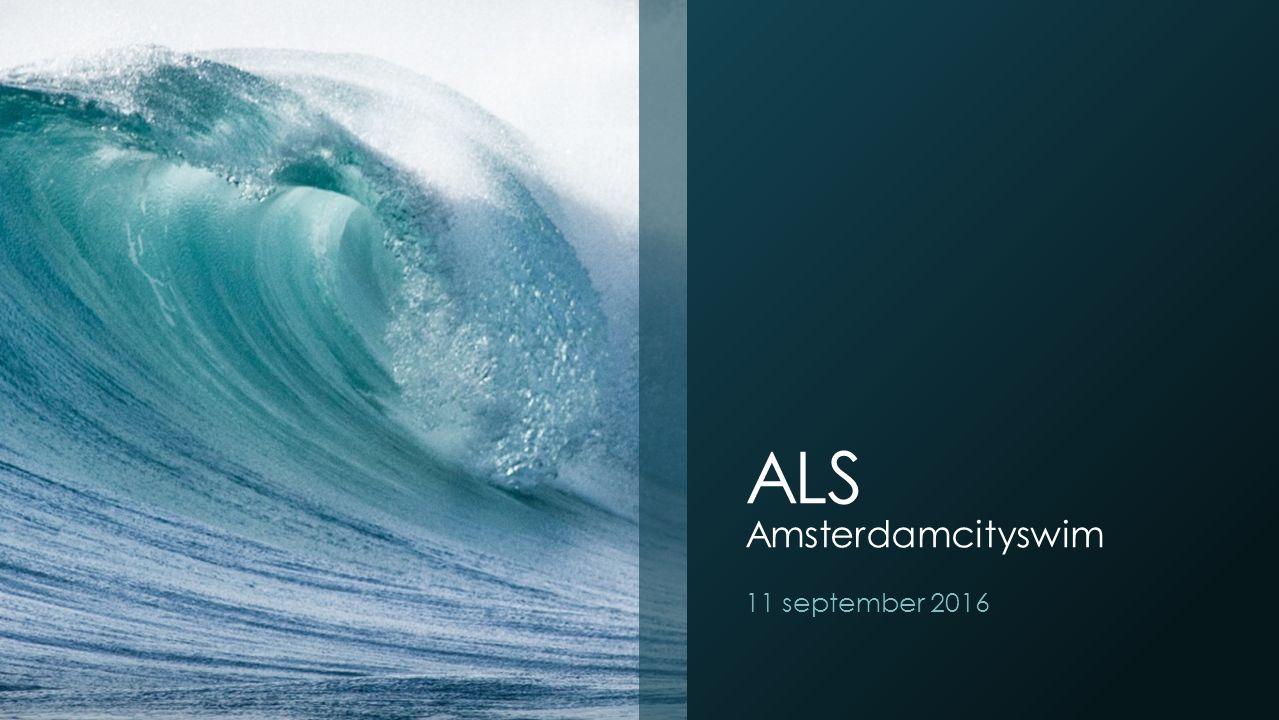 ALS Amsterdamcityswim 11 september 2016