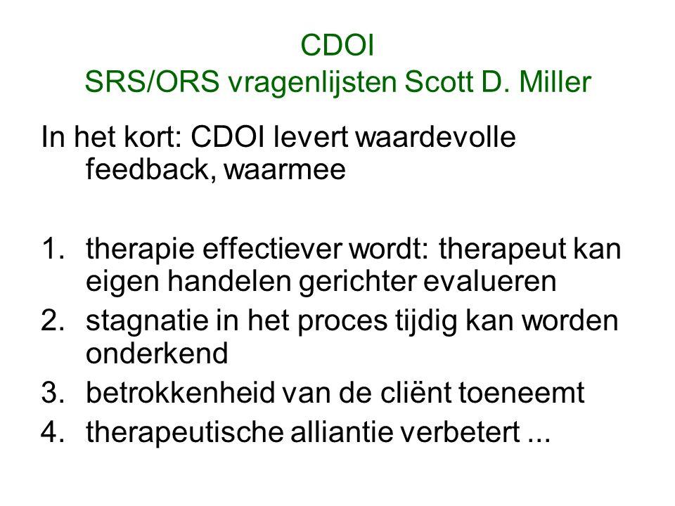 CDOI SRS/ORS vragenlijsten Scott D.