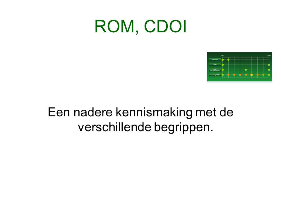 ROM, CDOI Een nadere kennismaking met de verschillende begrippen.