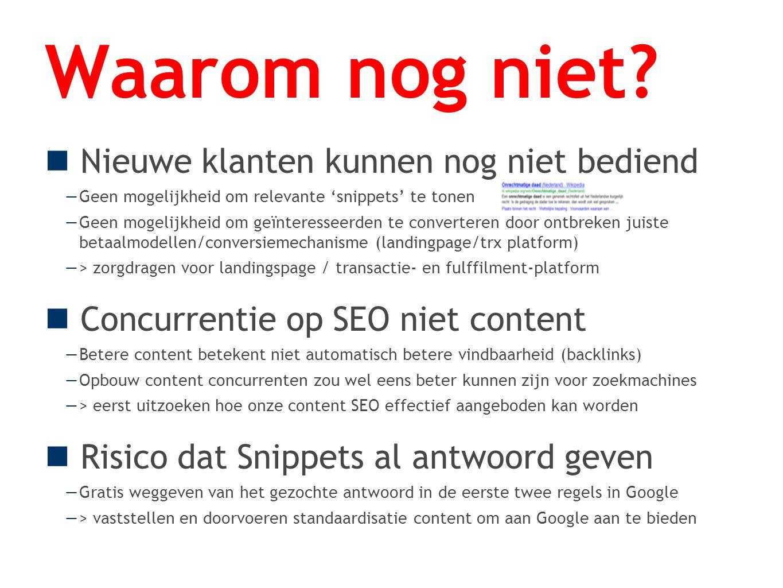 Moeten we onze content integraal door Google laten indexeren? Neen Conclusie