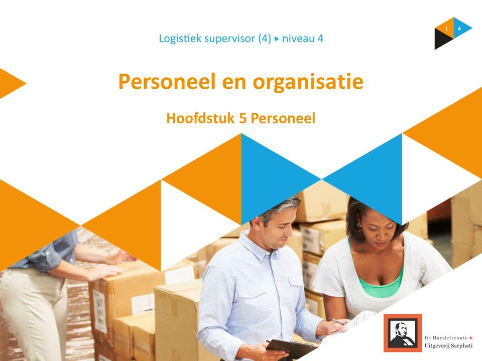 Personeel en organisatie Hoofdstuk 5 Personeel