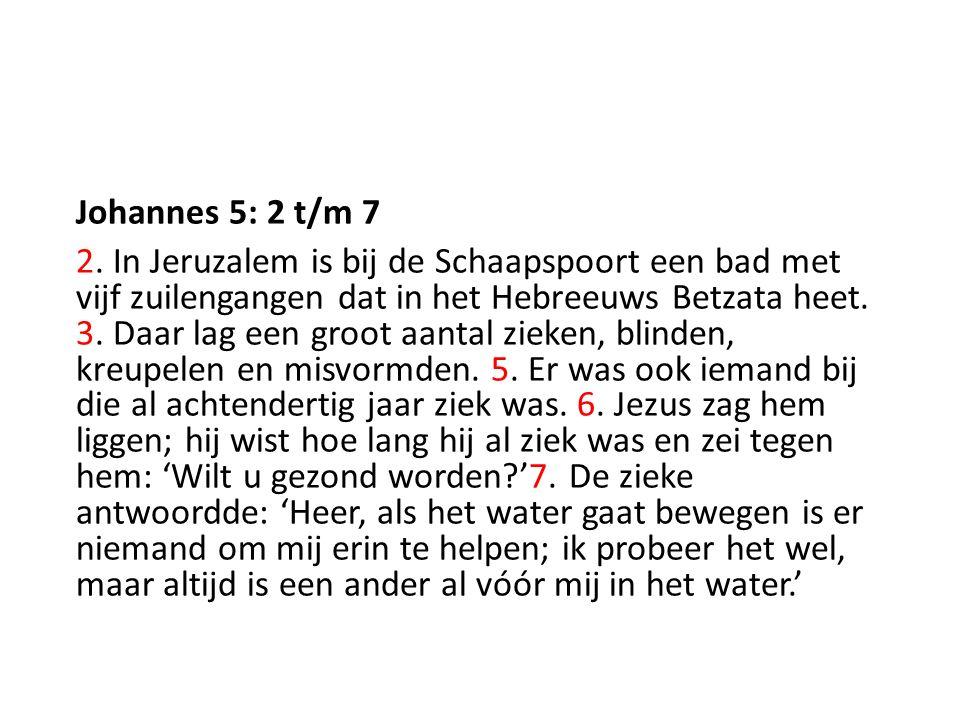 Johannes 5: 2 t/m 7 2.