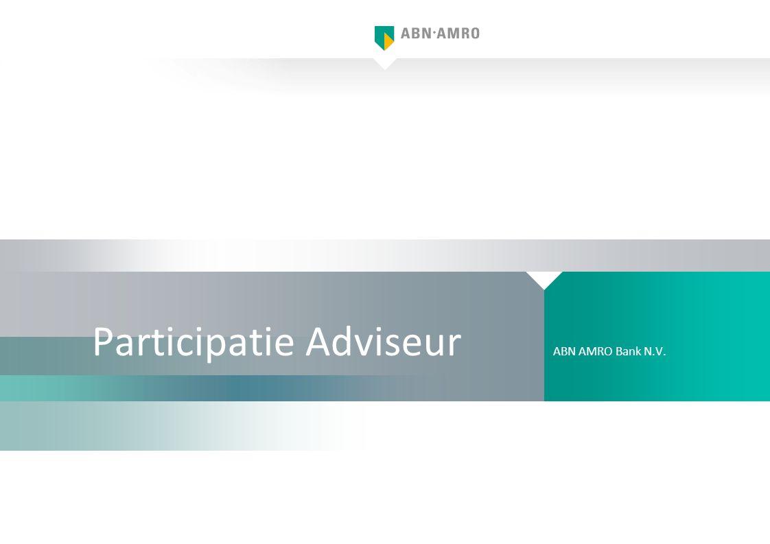 Participatie Adviseur ABN AMRO Bank N.V.