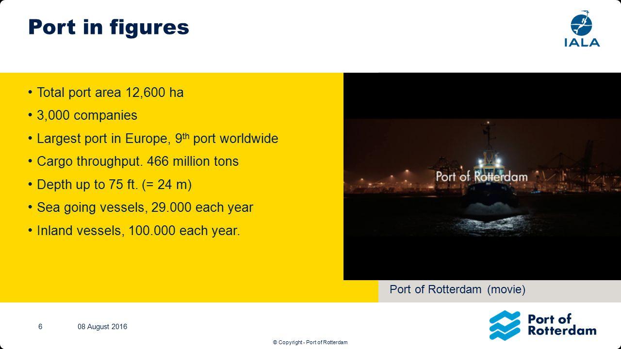© Copyright - Port of Rotterdam Tekst + afbeelding (M) Klik op het icoontje om een nieuwe afbeelding in te voegen.