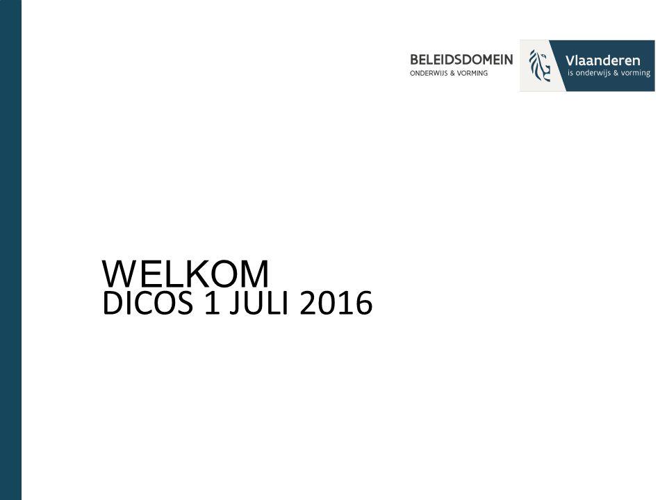 WELKOM DICOS 1 JULI 2016