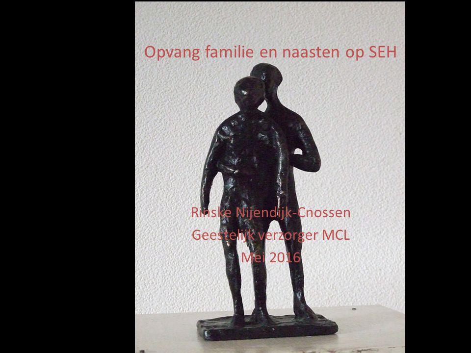 Opvang familie en naasten op SEH Rinske Nijendijk-Cnossen Geestelijk verzorger MCL Mei 2016