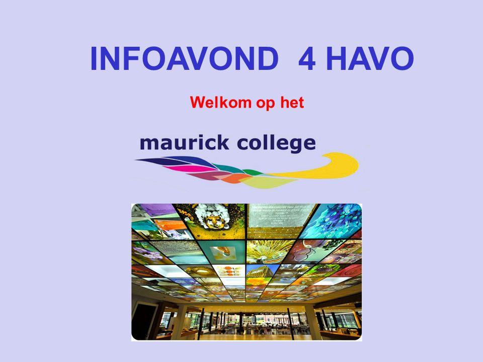 INFOAVOND 4 HAVO Welkom op het