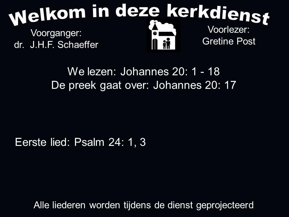 Votum (175b) Zegengroet De zegengroet mogen we beantwoorden met het gezongen amen Zingen: Psalm 24: 1, 3....
