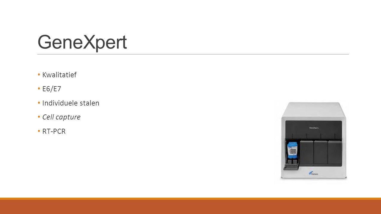 GeneXpert Kwalitatief E6/E7 Individuele stalen Cell capture RT-PCR