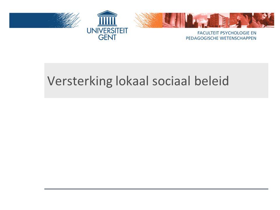 Versterking lokaal sociaal beleid