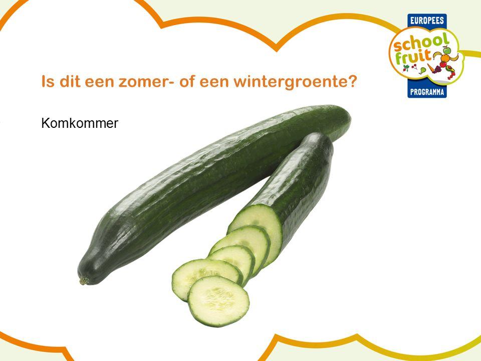 Is dit een zomer- of een wintergroente Komkommer