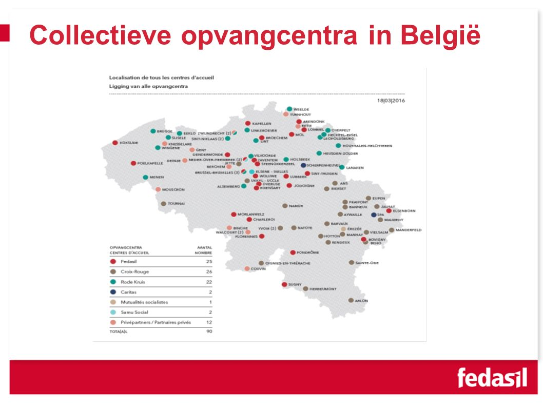 Collectieve opvangcentra in België