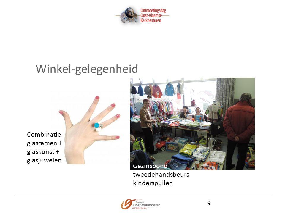Winkel-gelegenheid 9 Gezinsbond tweedehandsbeurs kinderspullen Combinatie glasramen + glaskunst + glasjuwelen