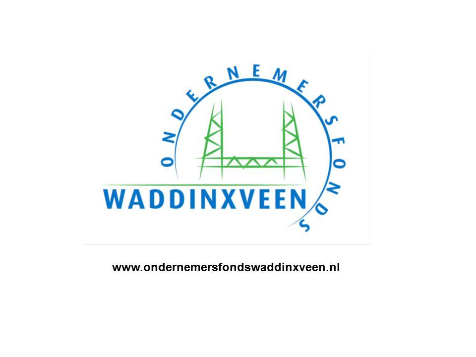 Ondernemersfonds Waddinxveen per 1-1-2016 Frans Bruijstens Adviseur OVW