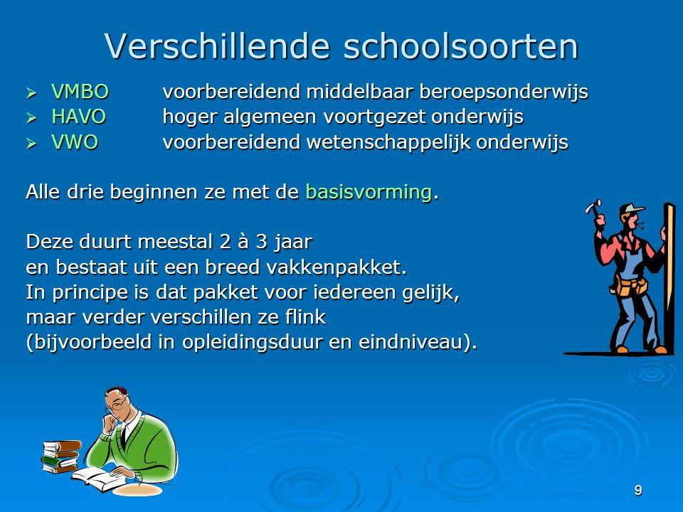20 De Oude Maas * VMBO (BBL, KBL) met 3 sectoren nl: * Techniek, economie en zorg & welzijn.