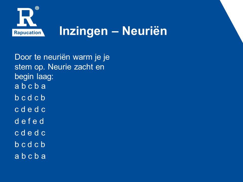 Inzingen – Neuriën Door te neuriën warm je je stem op.