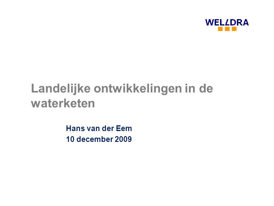 Landelijke ontwikkelingen in de waterketen Hans van der Eem 10 december 2009