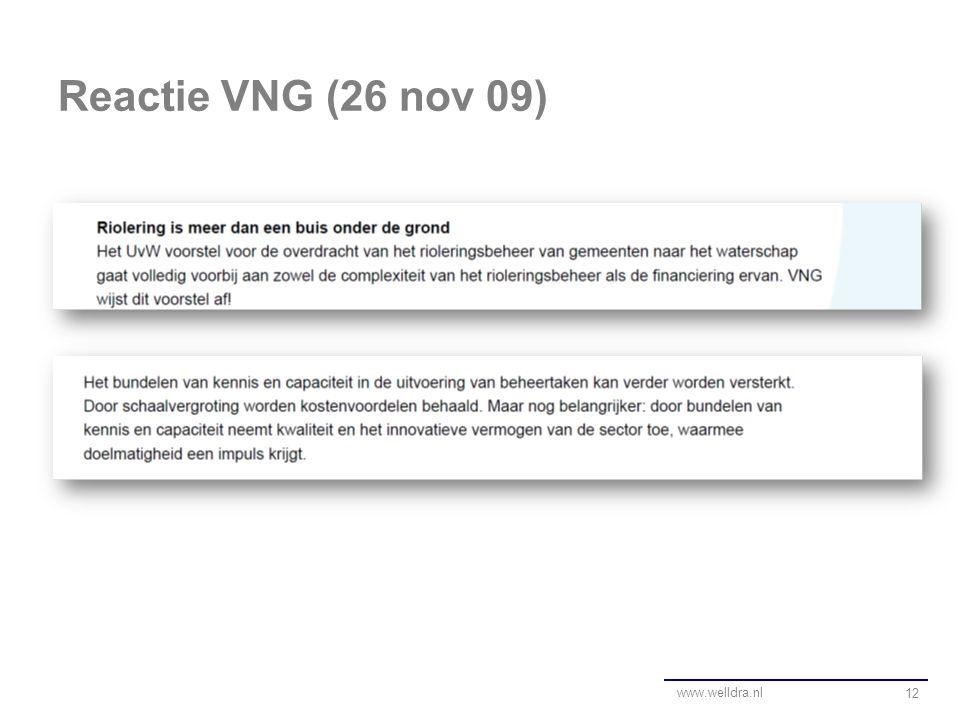 Reactie VNG (26 nov 09) 12 www.welldra.nl