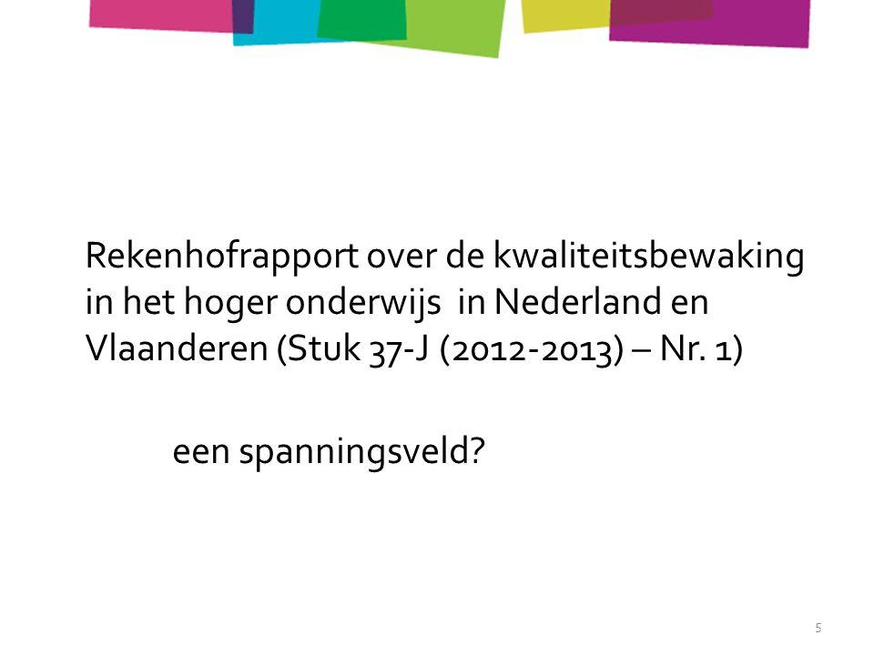 Rekenhofrapport over de kwaliteitsbewaking in het hoger onderwijs in Nederland en Vlaanderen (Stuk 37-J (2012-2013) – Nr.