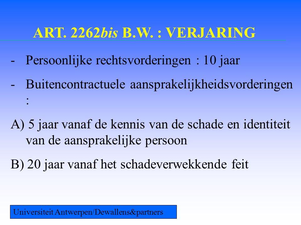 ART. 2262bis B.W.