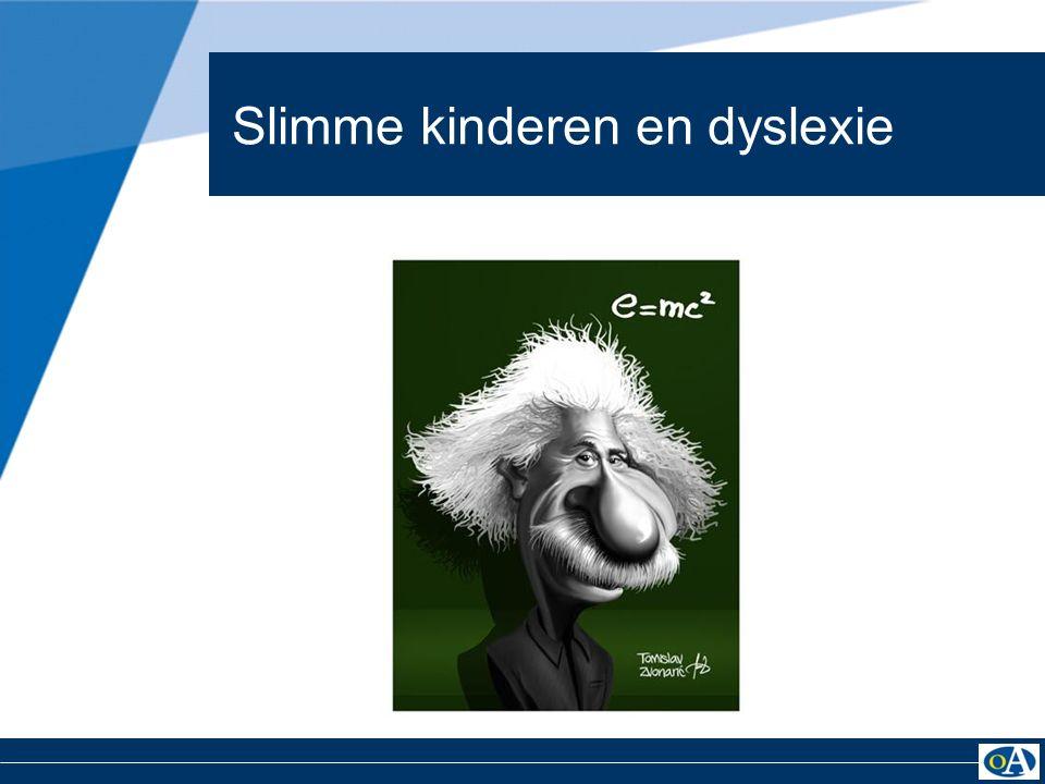 Slimme kinderen en dyslexie