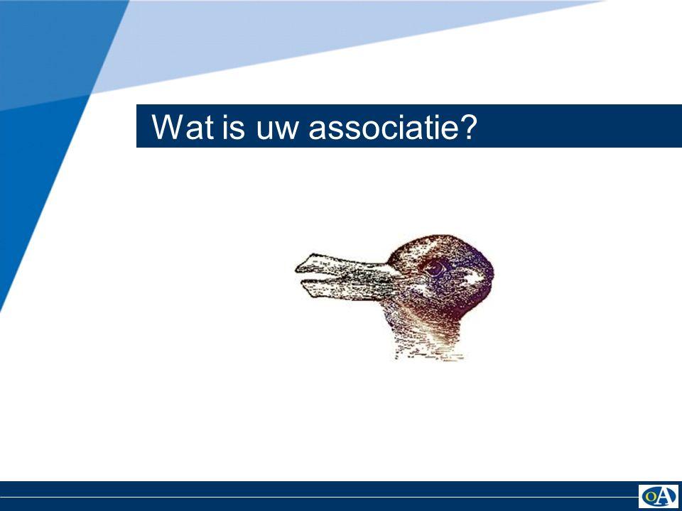 Wat is uw associatie