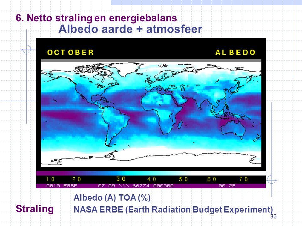 36 Straling Albedo aarde + atmosfeer 6.
