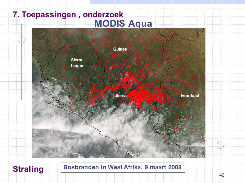 40 Straling MODIS Aqua 7.