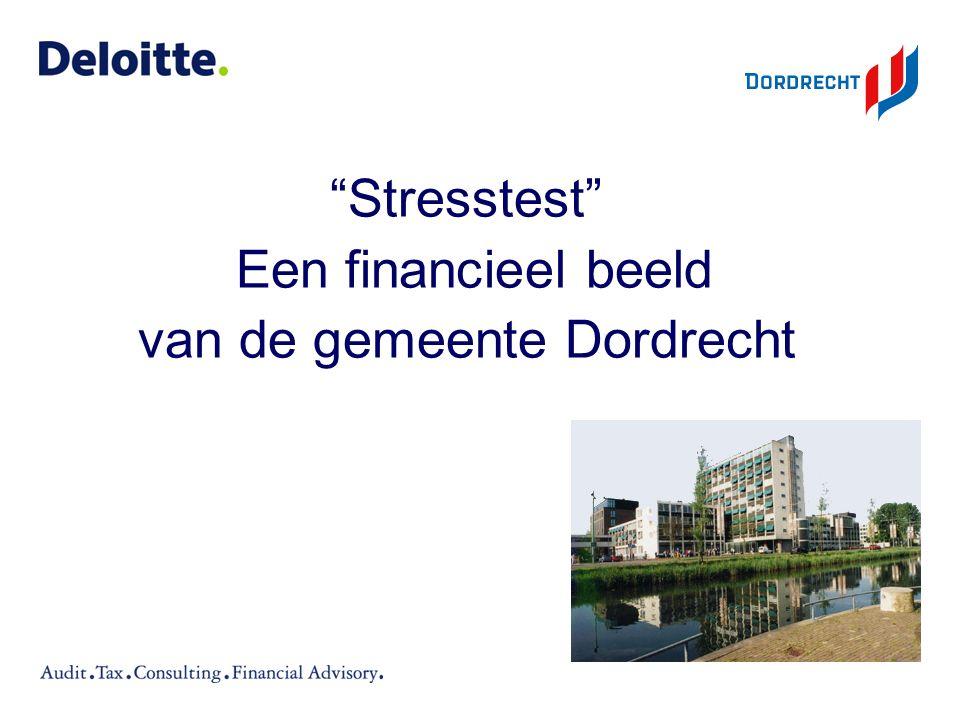 """""""Stresstest"""" Een financieel beeld van de gemeente Dordrecht"""