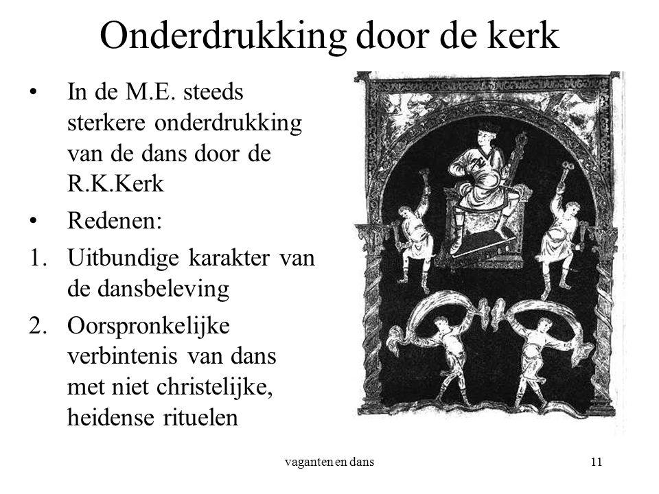 vaganten en dans11 Onderdrukking door de kerk In de M.E.