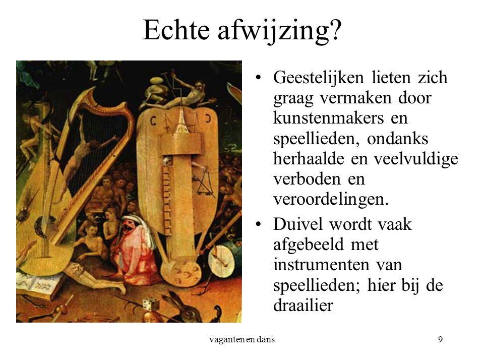 vaganten en dans9 Echte afwijzing.