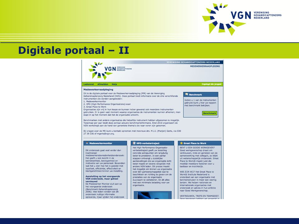 Digitale portaal – II