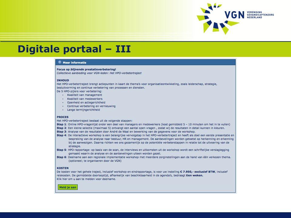 Digitale portaal – III