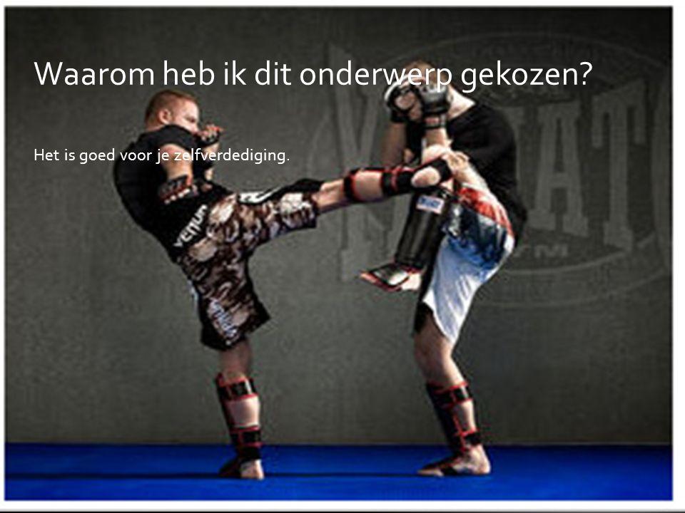INHOUD  Waarom heb ik dit onderwerp gekozen?  Wat is Kickboksen?  De geschiedenis  De algemene regels  Kleding  Basistechnieken  Klasses  Film
