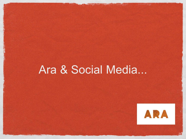 Debriefing Probleemstelling 1.Hoe zou social media effectief ingezet kunnen worden voor ARA als merk.