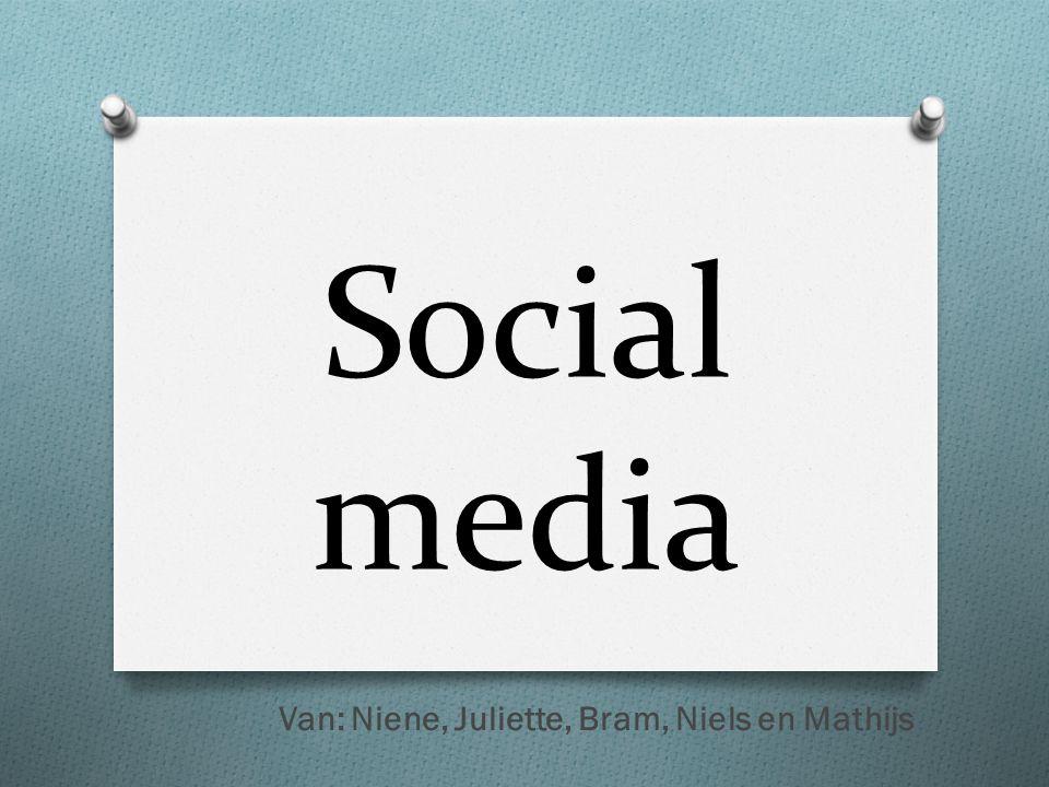 Social media Van: Niene, Juliette, Bram, Niels en Mathijs
