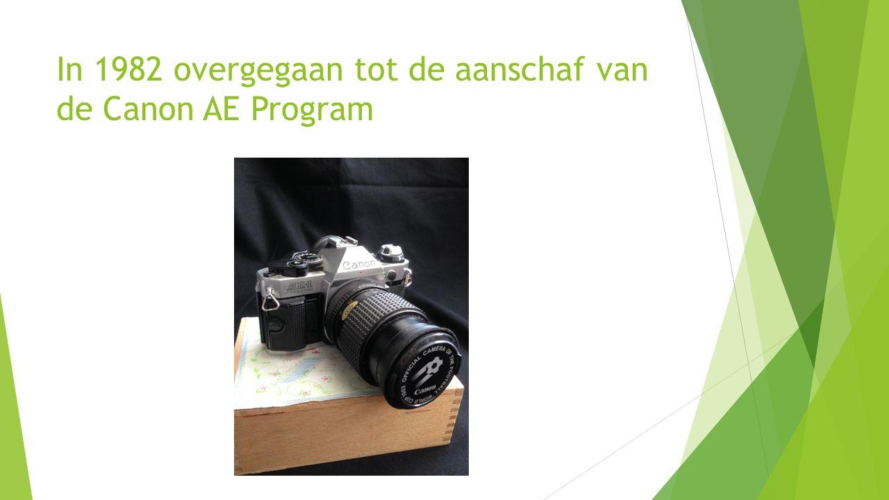 In 1982 overgegaan tot de aanschaf van de Canon AE Program