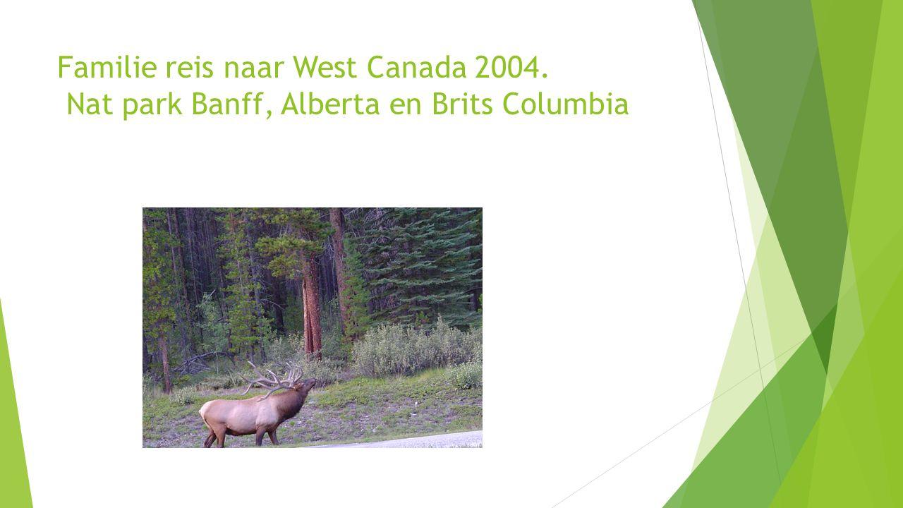 Familie reis naar West Canada 2004. Nat park Banff, Alberta en Brits Columbia