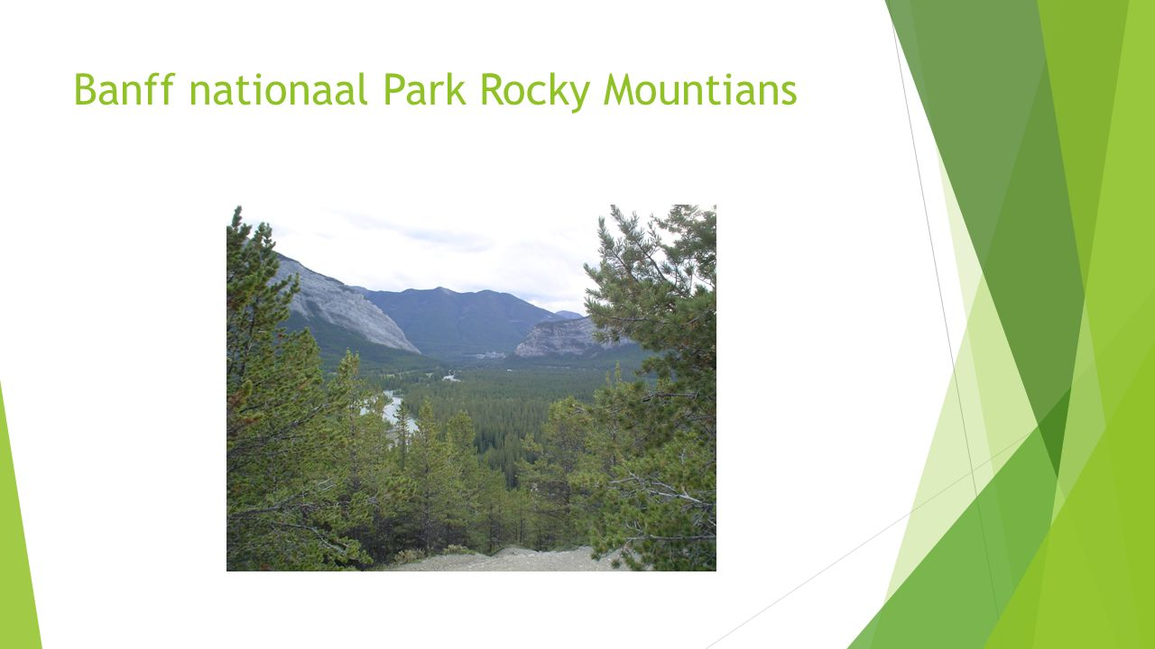 Banff nationaal Park Rocky Mountians