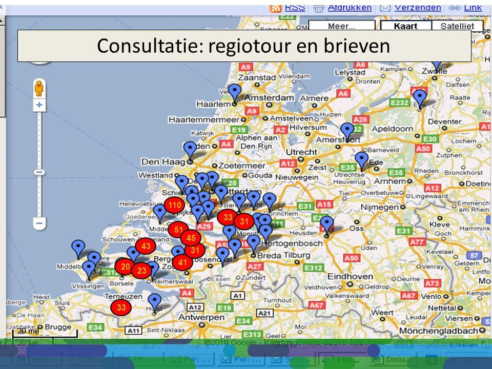 110 41 31 33 31 20 33 51 45 23 43 Consultatie: regiotour en brieven