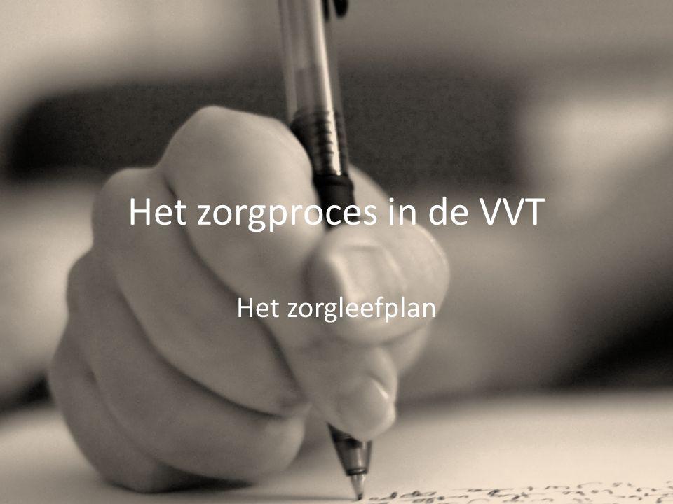 Het zorgproces in de VVT Het zorgleefplan