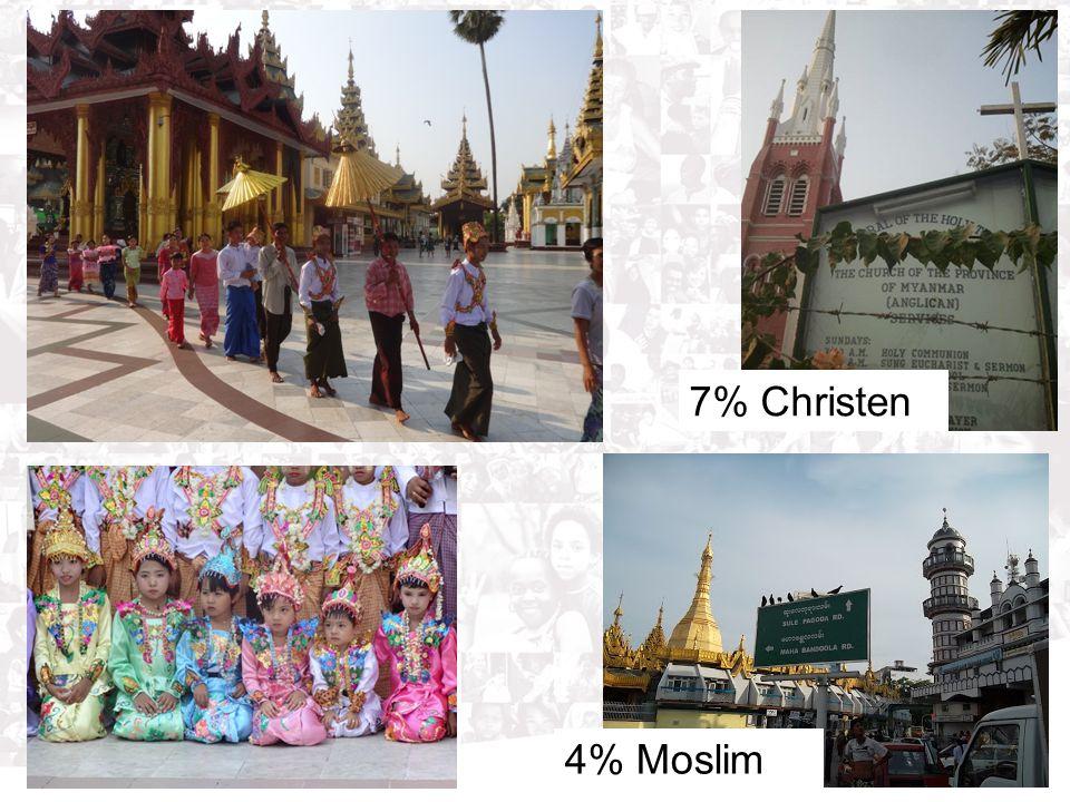 7% Christen 4% Moslim