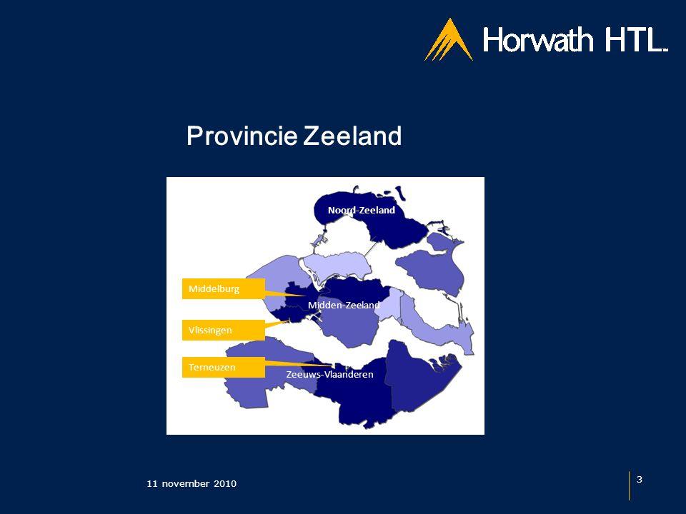 Provincie Zeeland 11 november 2010 3 Zeeuws-Vlaanderen Midden-Zeeland Noord-Zeeland Terneuzen Middelburg Vlissingen