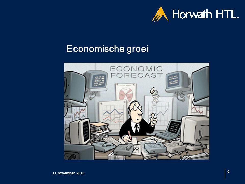 11 november 2010 6 Economische groei
