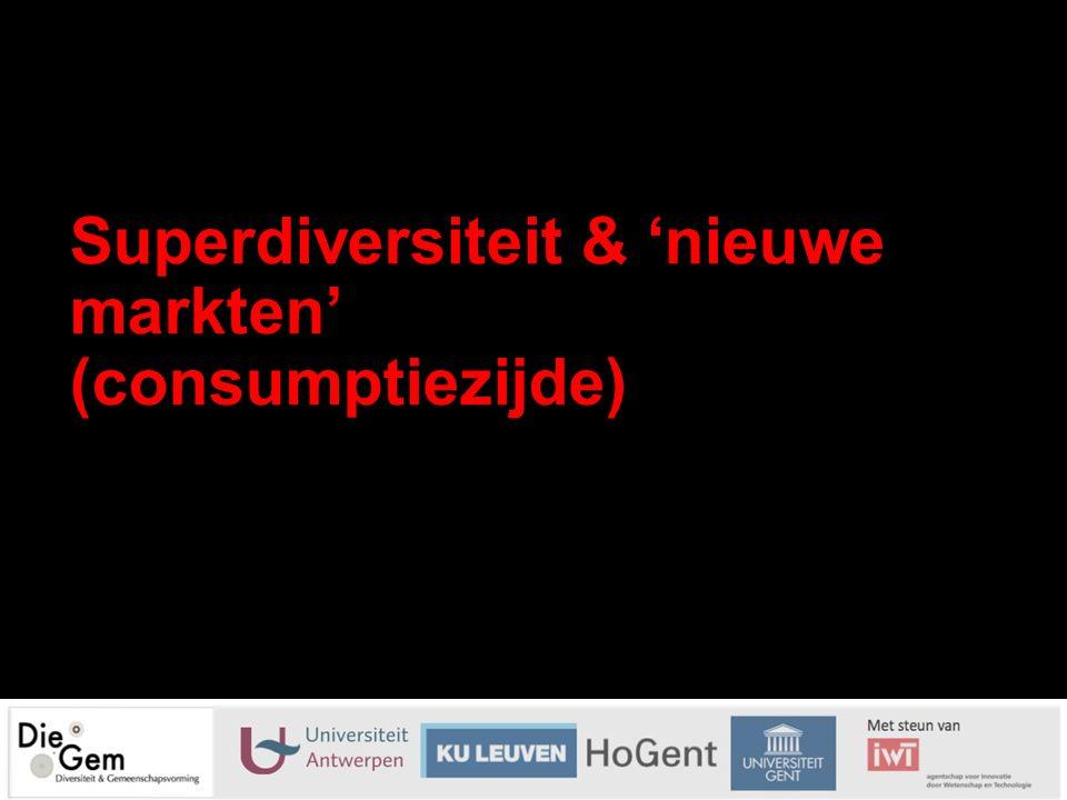 Superdiversiteit & 'nieuwe markten' (consumptiezijde) 14