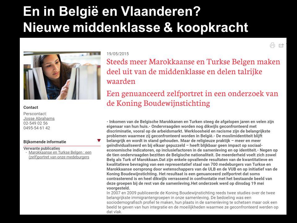 En in België en Vlaanderen? Nieuwe middenklasse & koopkracht