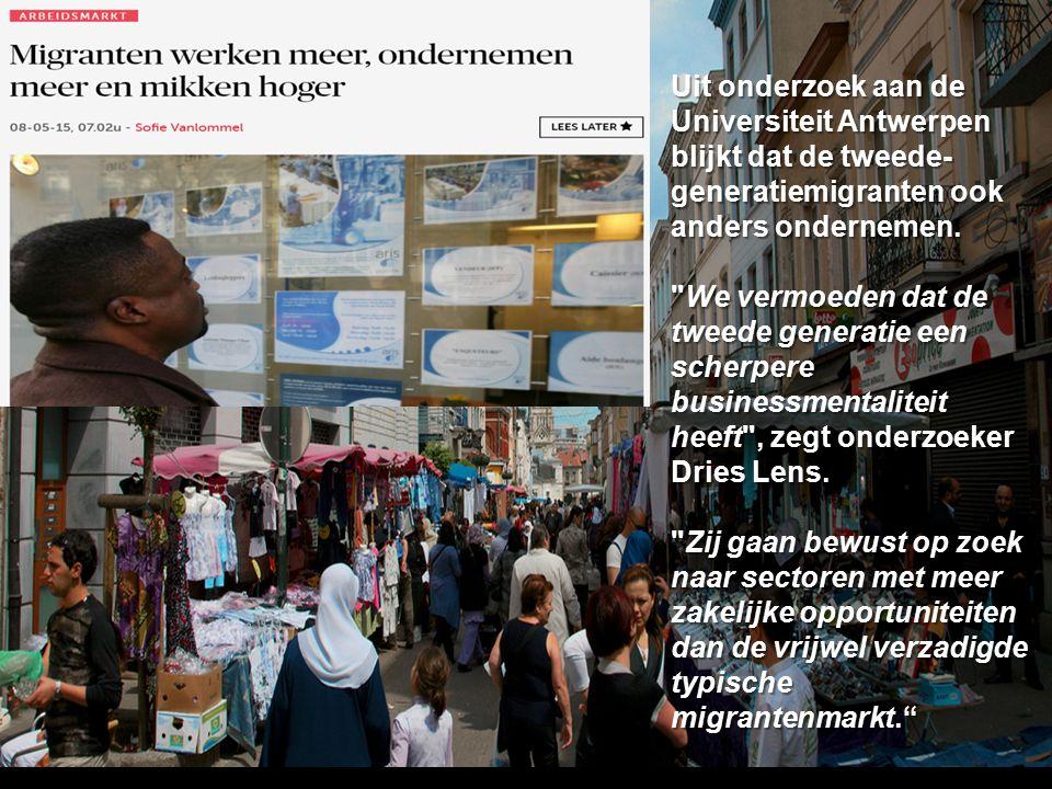 Uit onderzoek aan de Universiteit Antwerpen blijkt dat de tweede- generatiemigranten ook anders ondernemen.